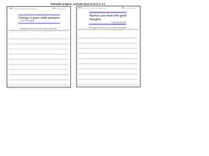 Quotation Writing Prompts 7 Worksheet