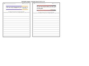 Quotation Writing Prompts Worksheet