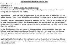 Quotations and Capitals Lesson Plan