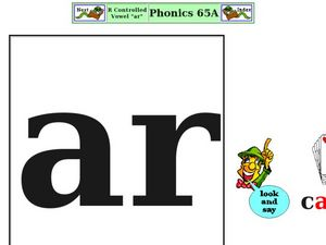 "R Controlled Vowel ""ar"" Worksheet"