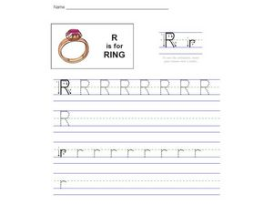 R is for Ring Worksheet