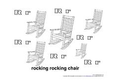 R Is For Rocking Chair Worksheet