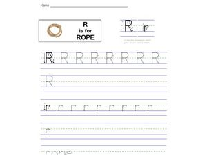 R is for Rope Worksheet