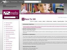 Race to 100 Lesson Plan
