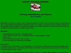 Racing Through Reading Lesson Plan