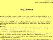 Racing to Read Fast Lesson Plan