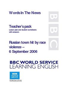 Racism in Russia Lesson Plan