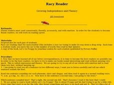 Racy Reader Lesson Plan