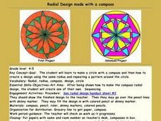 Radial Design made with a Compass Lesson Plan