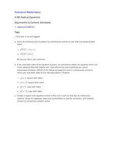 Printables Radical Equation Review Worksheet Match Up radical equations lesson plans worksheets reviewed by teachers equations