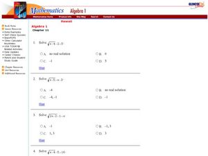 Radical Equations Worksheet