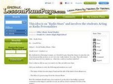 Radio Stars Lesson Plan
