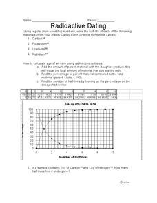 radioactive dating game activity answers In this model eliciting activity (mea), students must use their knowledge of radioactive dating and geologic time to select an effective elemental isotope to be.
