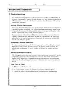 Radiochemistry Worksheet