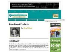 Rain Forest Products Lesson Plan