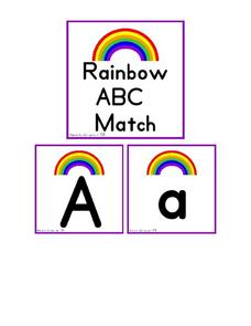 Rainbow ABC Match Worksheet
