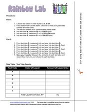 Rainbow Lab Worksheet
