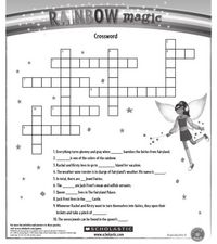 Rainbow Magic Crossword Worksheet
