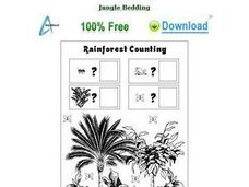Rainforest Counting Worksheet