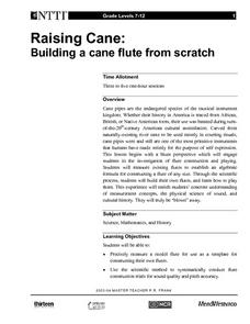 Raising Cane: Building a Cane Flute From Scratch Lesson Plan