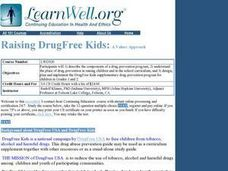 Raising DrugFree Kids:: A Values Approach Lesson Plan