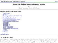 Rape: Psychology, Prevention and Impact Lesson Plan