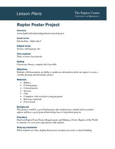 Raptor Poster Project Lesson Plan