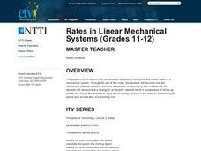 Rates in Linear Mechanical Systems Lesson Plan
