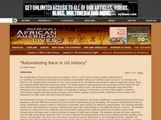Rationalizing Race in US History Lesson Plan