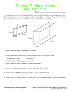 Ratios, Surface Areas and Volumes Worksheet