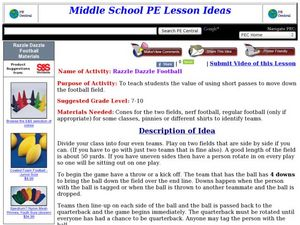 Razzle Dazzle Football Lesson Plan