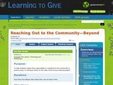 Reaching Out to the Community -- Beyond Lesson Plan