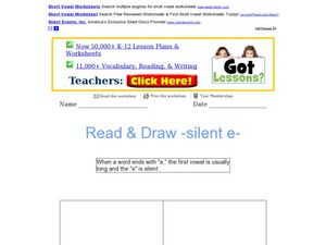 Read and Draw- Silent E Worksheet