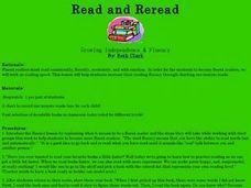 Read and Reread Lesson Plan