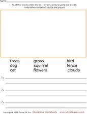 Read, Draw a Picture, and Write! Worksheet