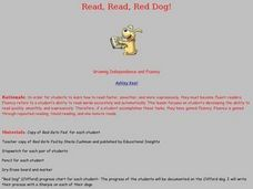Read, Read, Red Dog! Lesson Plan