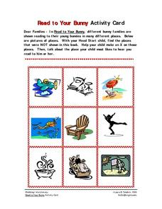 Read to Your Bunny Activity Card Worksheet