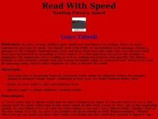 Read with Speed Lesson Plan