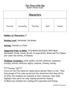Reader's Theater Script Lesson Plan
