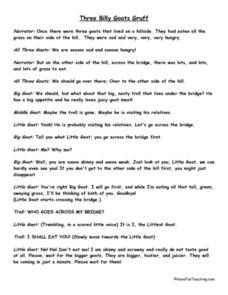 ... : Three Billy Goats Gruff 2nd - 3rd Grade Worksheet | Lesson Planet