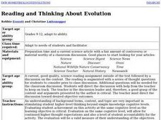Reading and Thinking About Evolution Lesson Plan