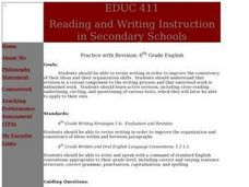 Reading and Writing Instruction in Secondary Schools Lesson Plan