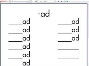 Reading and Writing Simple Rhyming Words Ending With