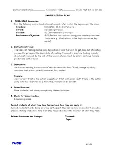 Reading Between the Lines Lesson Plan