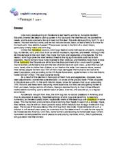 Worksheets 11th Grade Reading Comprehension Worksheets reading comprehension 1 level 11 10th 12th grade worksheet worksheet