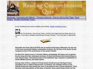 Printables Alexander The Great Worksheet reading comprehension alexander the great 6th grade worksheet worksheet