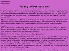 Reading Comprehension Jobs Lesson Plan