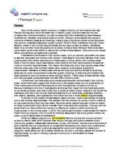 Printables 10th Grade Reading Comprehension Worksheets printables 10th grade reading comprehension worksheets obesity and food deserts 8th worksheet