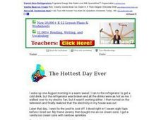 "Reading Comprehension: ""The Hottest Day Ever"" Worksheet"