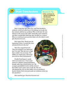 Reading: Draw Conclusions: The Seat of Honor Worksheet